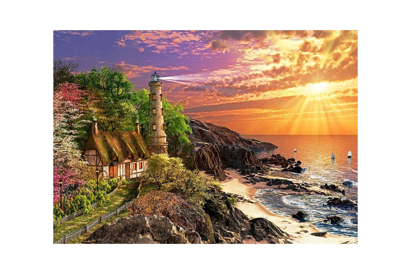Puzzle Castorland - Stony Cove, 500 Piese
