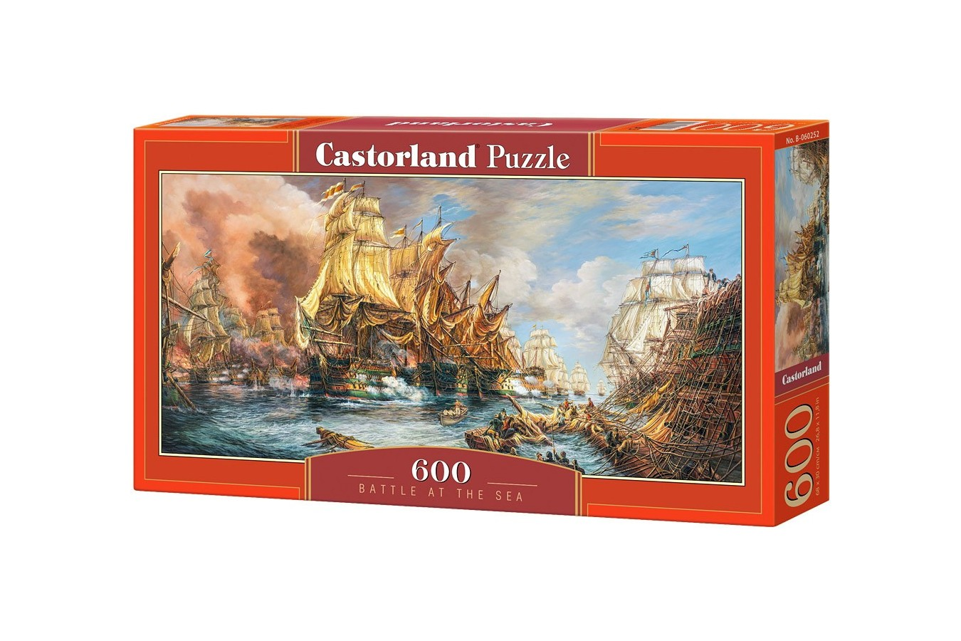 Puzzle Castorland Panoramic - Battle At The Sea, 600 Piese