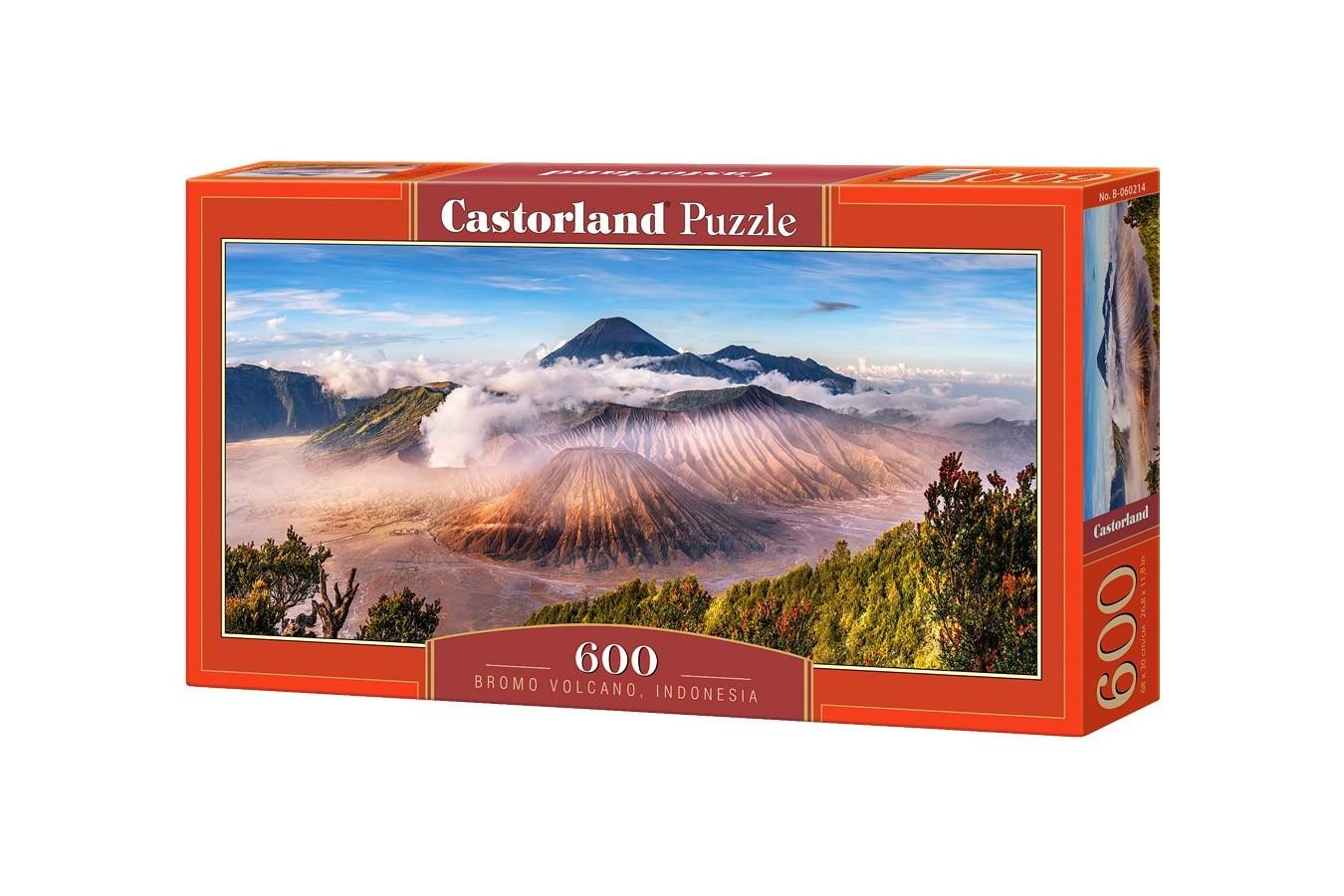 Puzzle Castorland Panoramic - Bromo Volcano Indonesia, 600 Piese