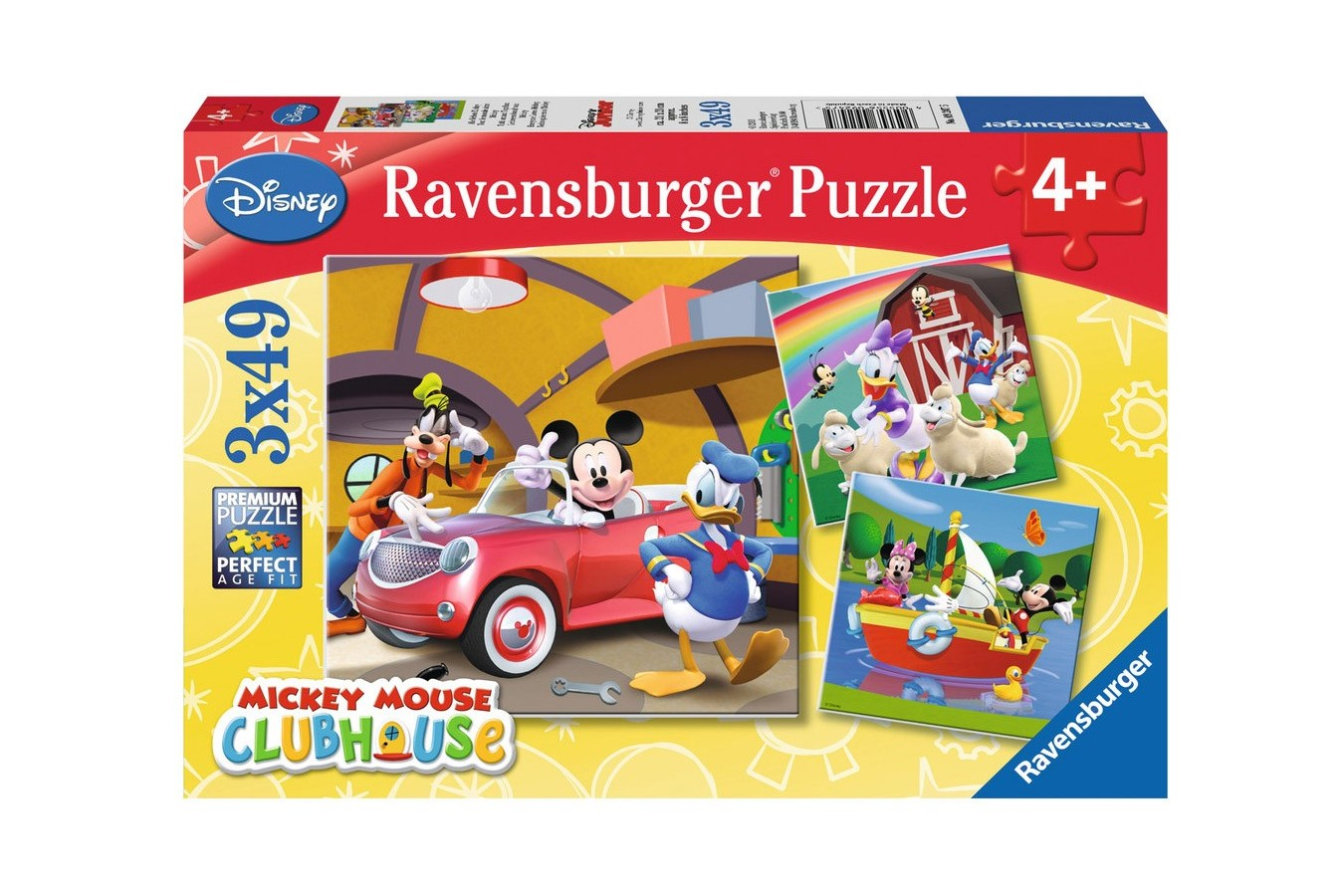 Puzzle Ravensburger - Clubul Mickey Mouse , 3x49 piese (09247)