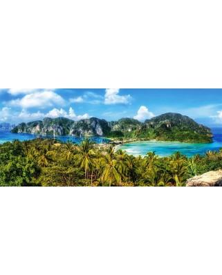 Puzzle Castorland Panoramic - Ko Phi Phi Island Thailand, 600 Piese