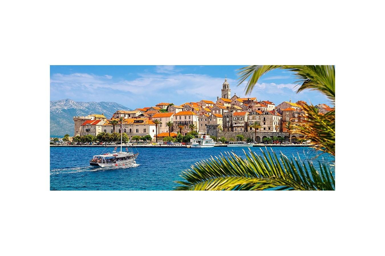 Puzzle Castorland Panoramic - Korcula Croatia, 600 Piese