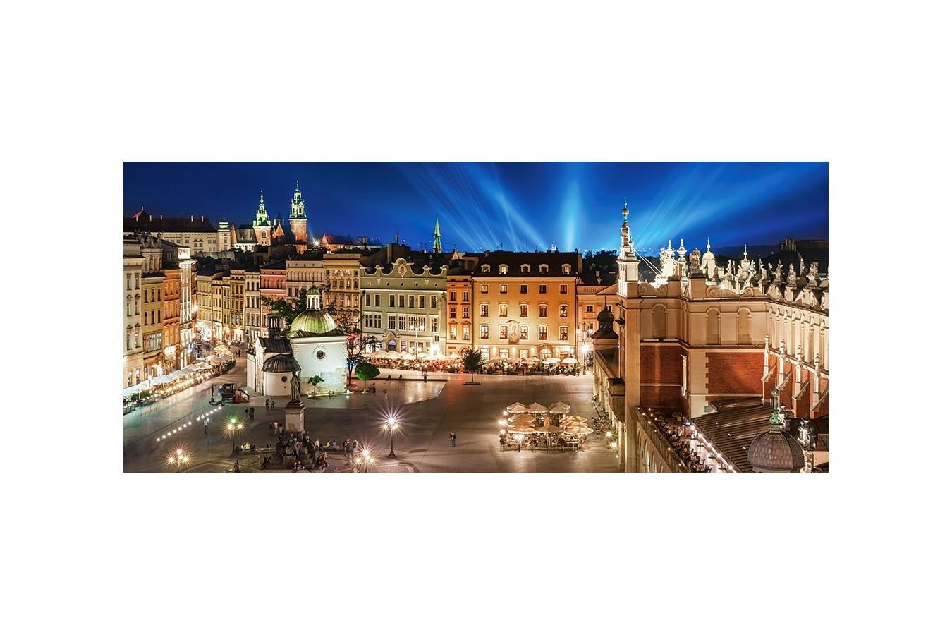 Puzzle Castorland Panoramic - Main Square At Night, 600 Piese