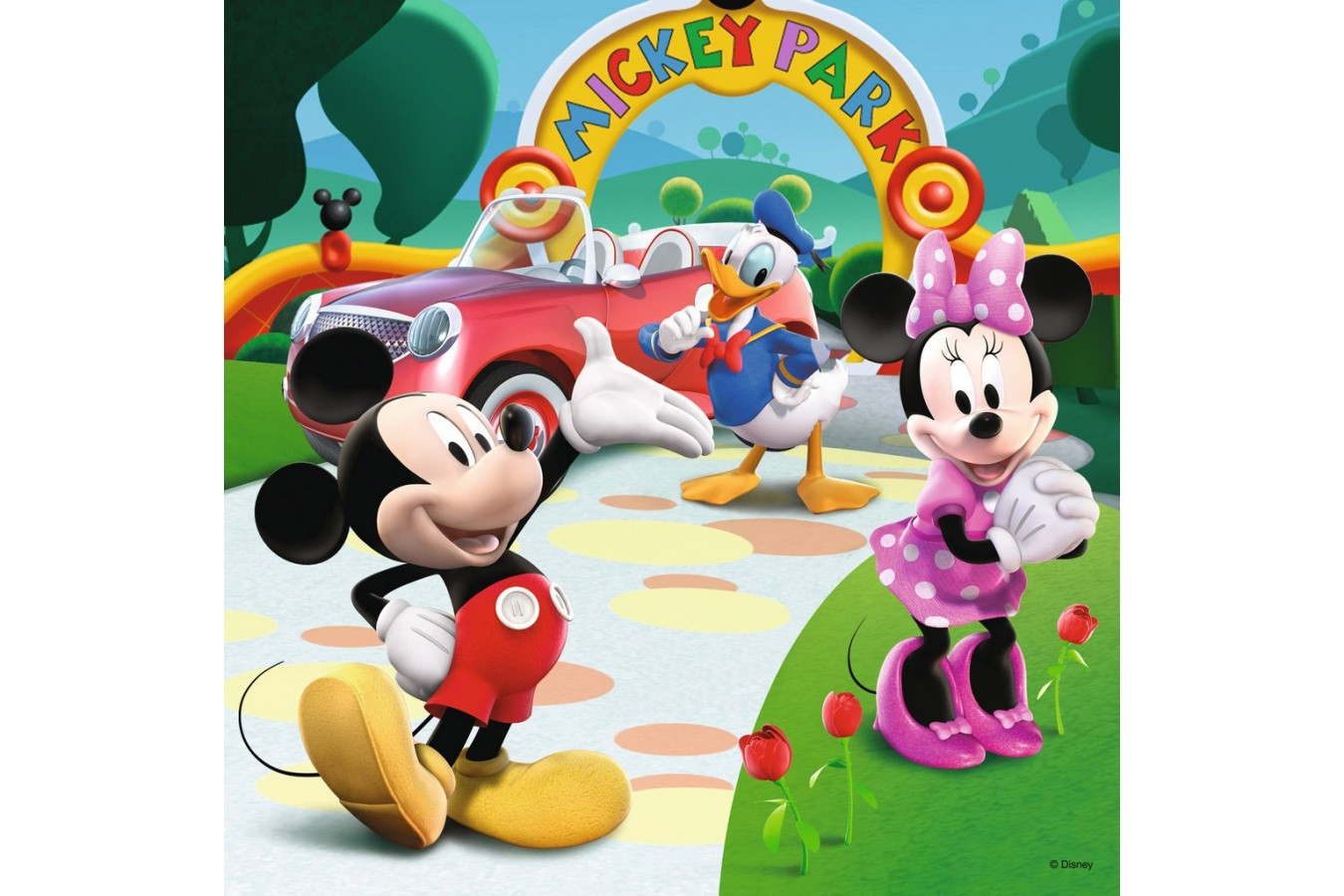 Puzzle Ravensburger - Clubul Mickey Mouse, 25/36/49 piese (07088)