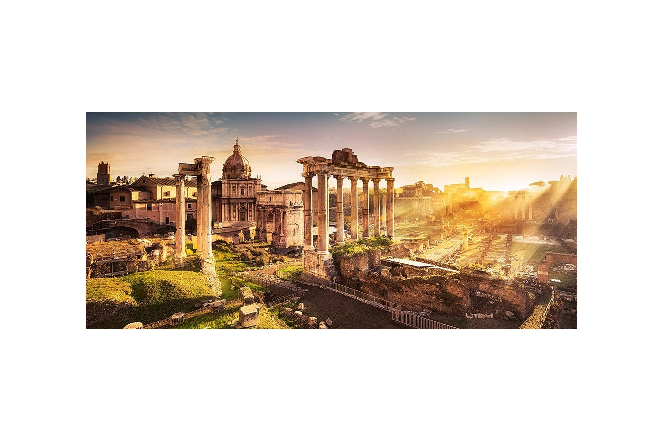 Puzzle Castorland Panoramic - View At The Forum Romanum, 600 Piese