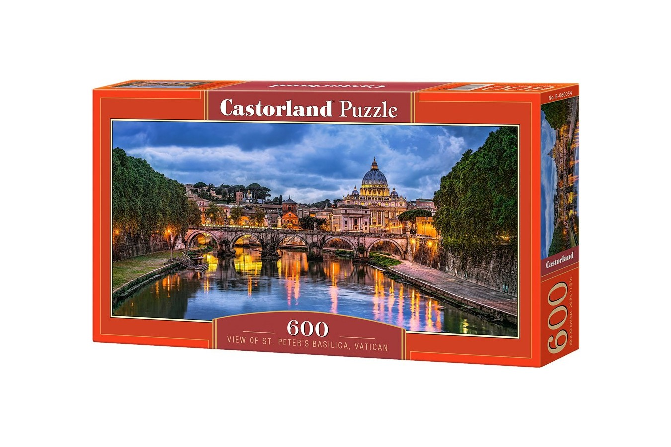 Puzzle Castorland Panoramic - View Of St Peters Basilica, Vatica, 600 Piese