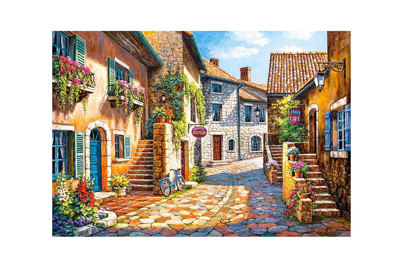 Puzzle Castorland - Rue De Vilage, 1000 Piese