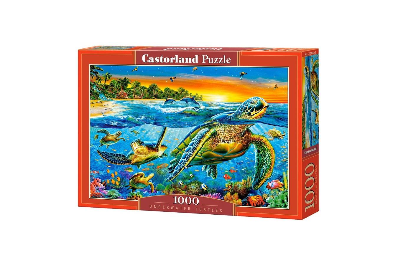 Puzzle Castorland - Underwater Turtles, 1000 Piese