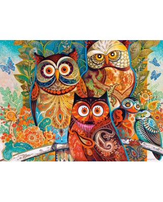 Puzzle Castorland - Owls, 2000 Piese
