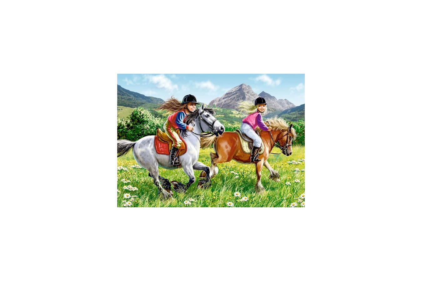Puzzle Castorland 2 in 1 - Riding Horses, 165/300 Piese