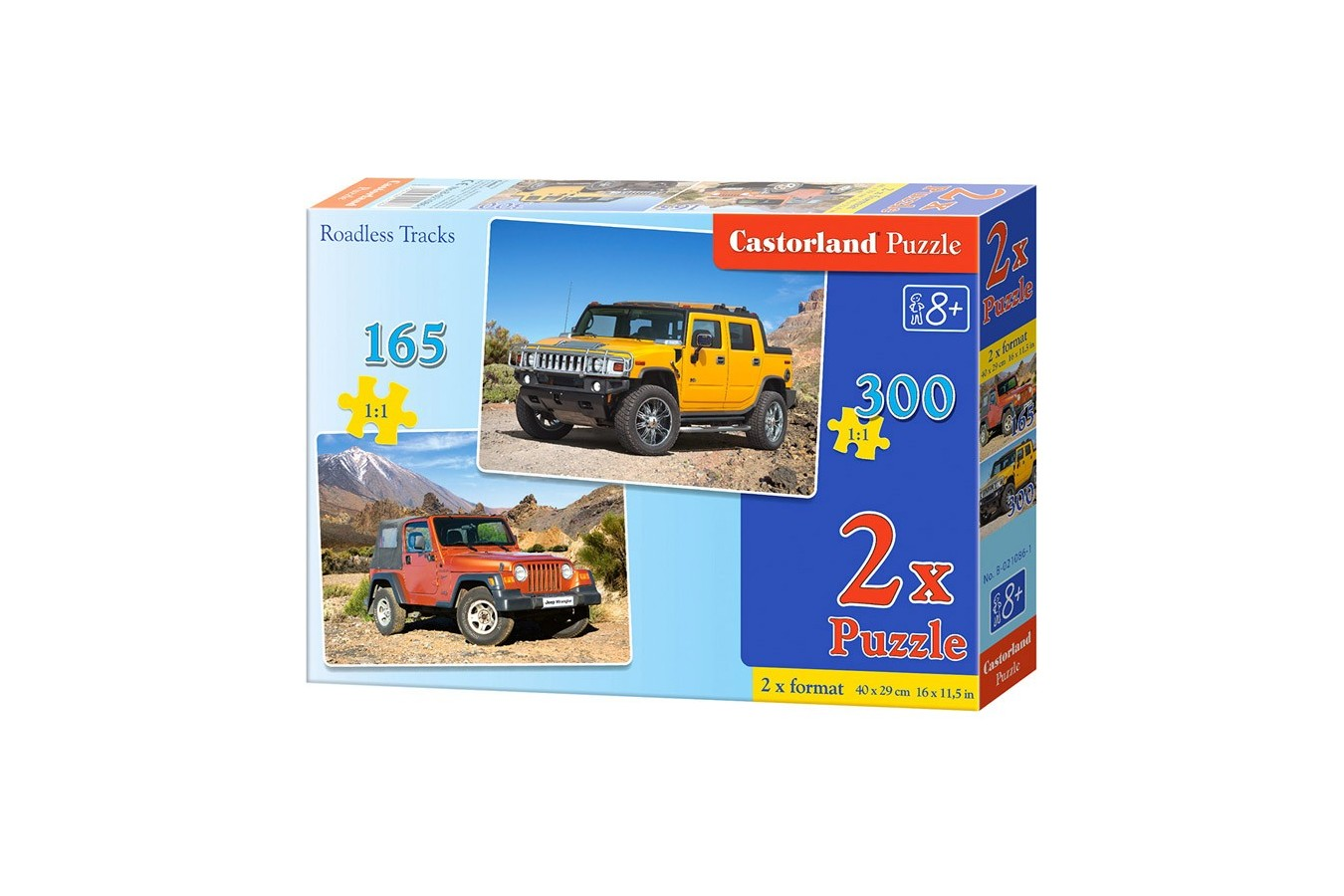 Puzzle Castorland 2 in 1 - Roadless Track, 165/300 Piese