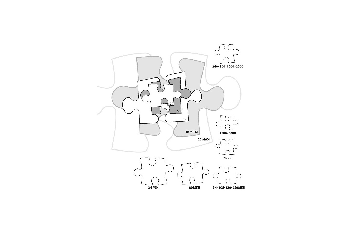 Puzzle Castorland 4 in 1 - Animals Of Africa, 4/5/6/7 Piese
