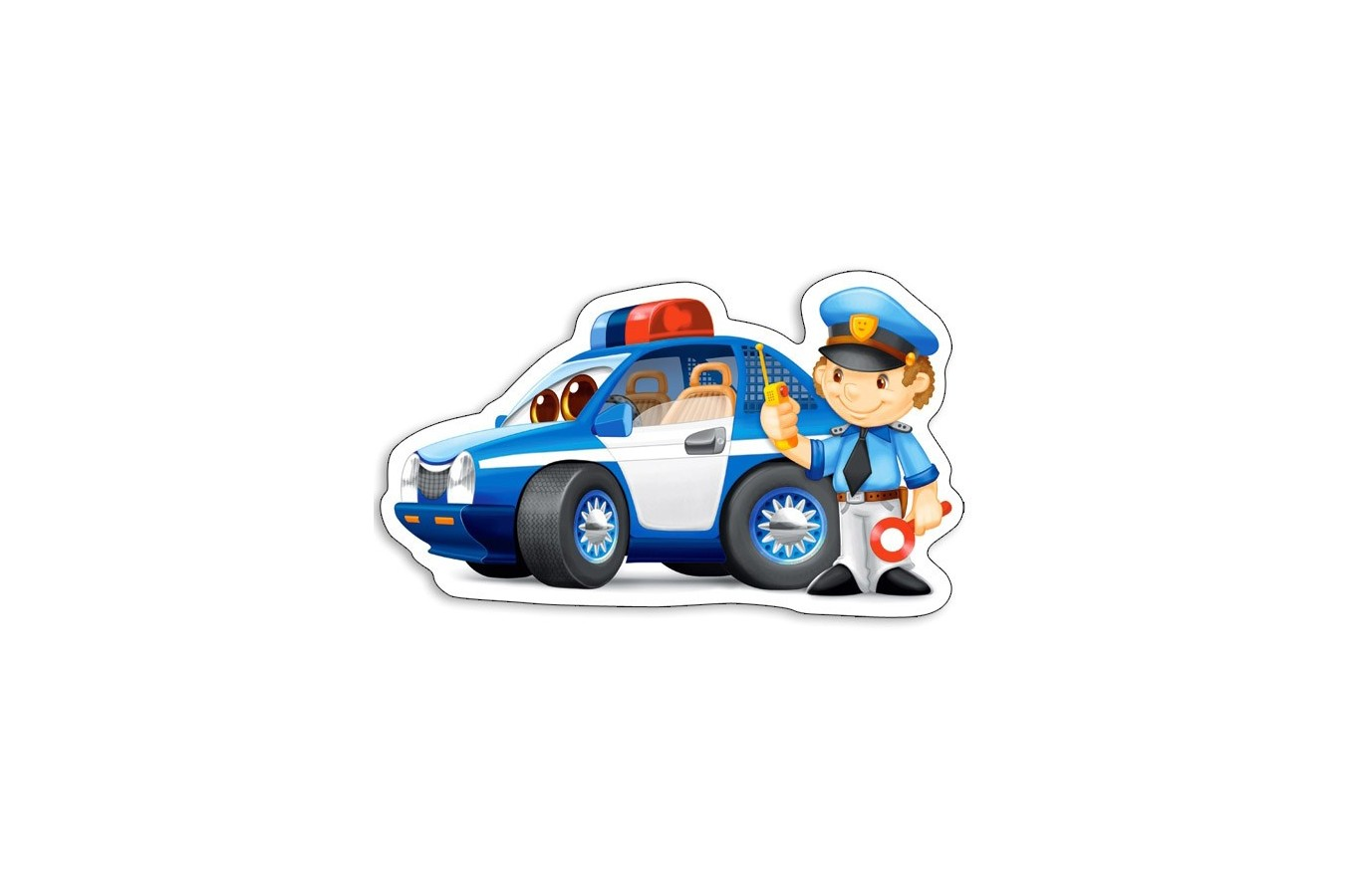 Puzzle Castorland 4 in 1 - Rescue Services, 4/5/6/7 Piese