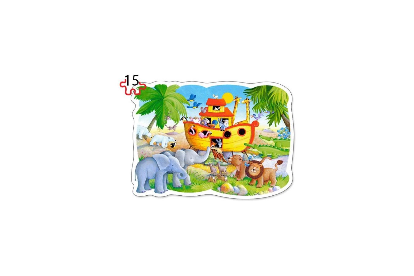 Puzzle Castorland 2 in 1 Contur - Noahs Adventure, 9/15 Piese