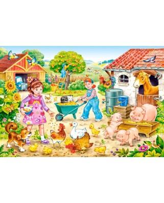 Puzzle Castorland - Farm, 40 piese MAXI