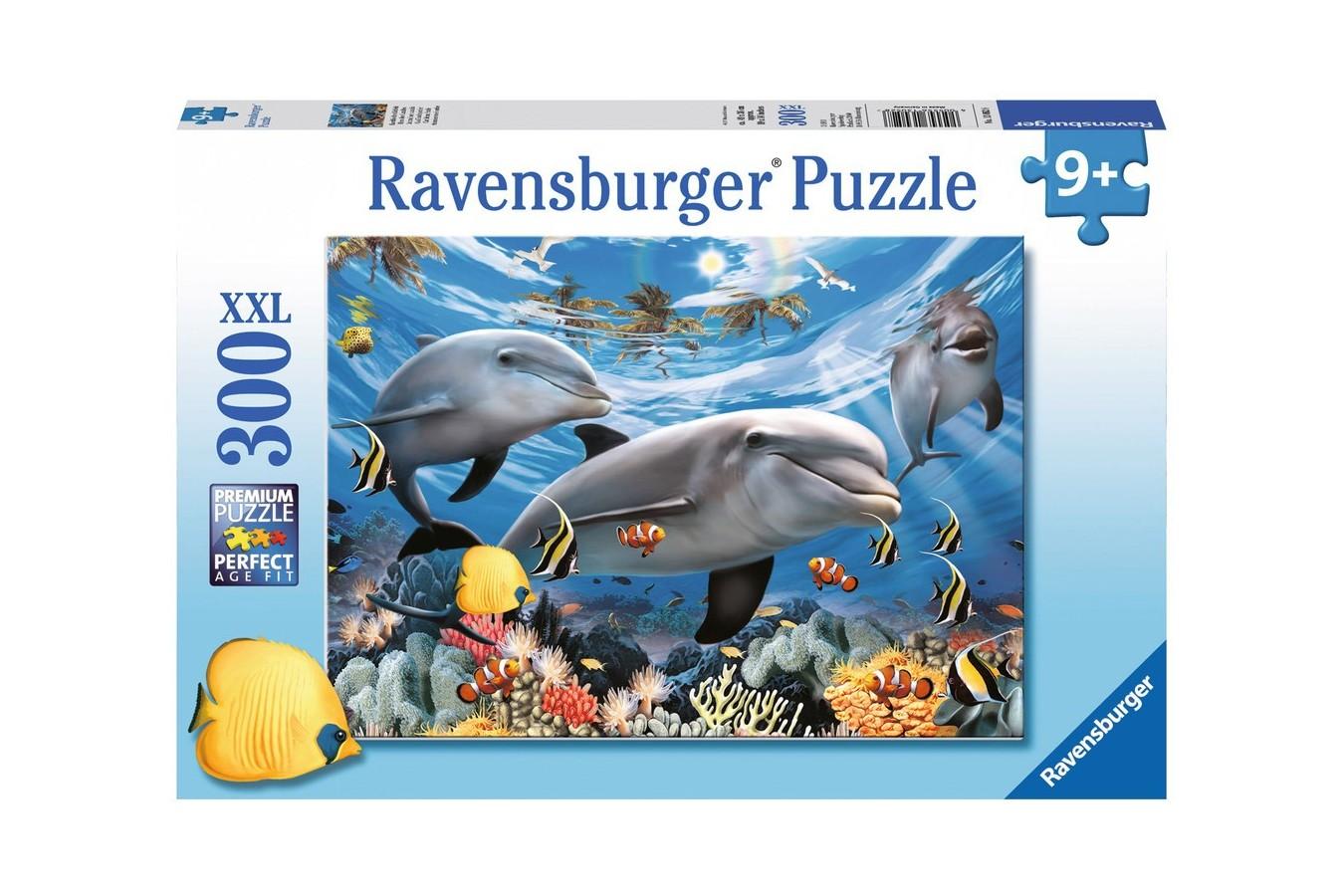 Puzzle Ravensburger - Delfini, 300 piese (13052)