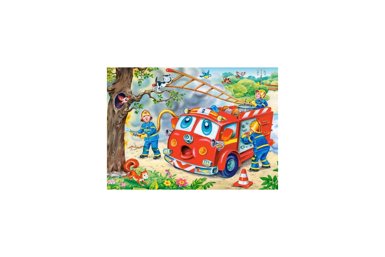 Puzzle Castorland - 4 in 1 Funny Vehicles, 8/12/15/20 piese
