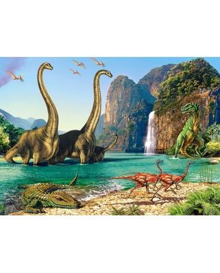 Puzzle Castorland - Dinozaur World, 60 piese