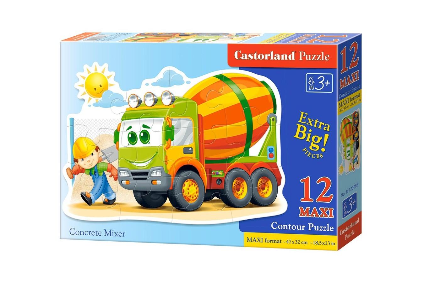 Puzzle Castorland - Concrete Mixer, 12 piese MAXI