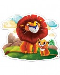 Puzzle Castorland - Lion cub and his dad, 12 piese MAXI