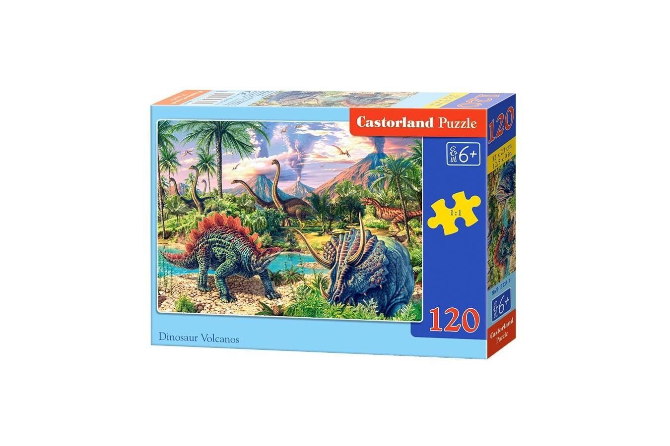 Puzzle Castorland - Dinosaur Volcanos, 120 piese