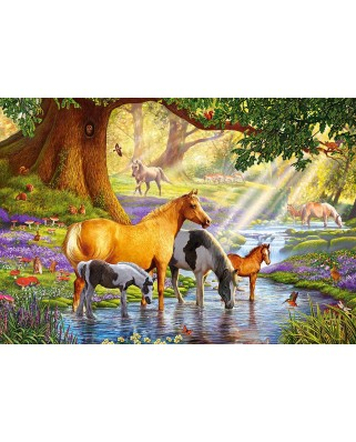 Puzzle Castorland - Horses by the stream, 1000 piese