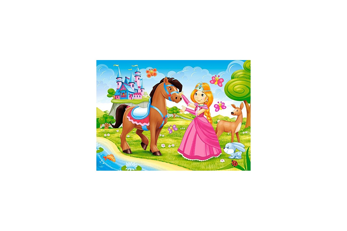 Puzzle Castorland - Princess and Her Friend, 60 piese
