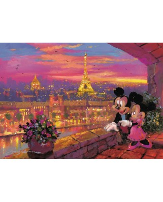 Puzzle Ravensburger - Disney Apusul La Paris, 1000 piese (19327)