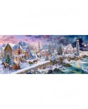 Puzzle Castorland Panoramic - Holiday at Seaside, 600 piese