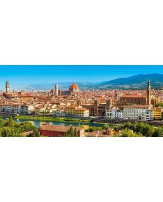 Puzzle Castorland Panoramic - Panorama of Florence, 600 piese