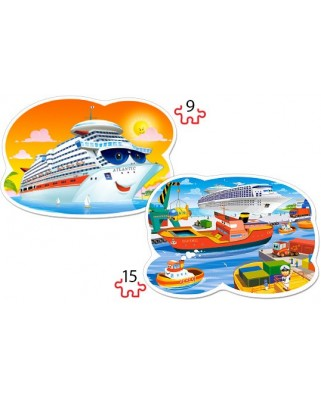 Puzzle Castorland 2 in 1 Contur - Sea Adventures, 9/15 piese