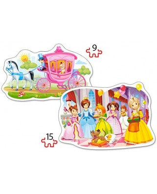 Puzzle Castorland 2 in 1 Contur - The Princess Ball, 9/15 piese
