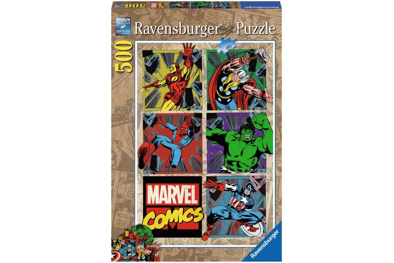 Puzzle Ravensburger - Aventurile Razbunatorilor, 500 piese (14339)