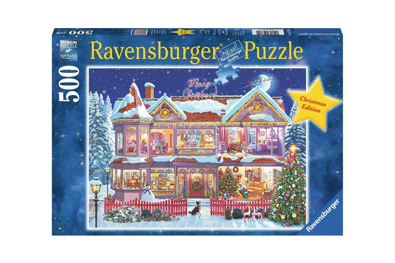 Puzzle Ravensburger - Casa De Craciun, 500 piese (14769)