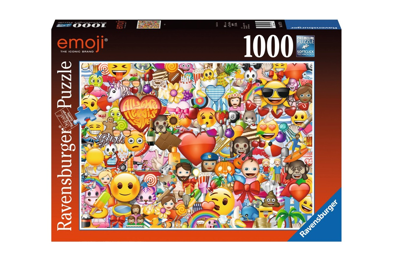 Puzzle Ravensburger - Emoji, 1000 piese (19772)