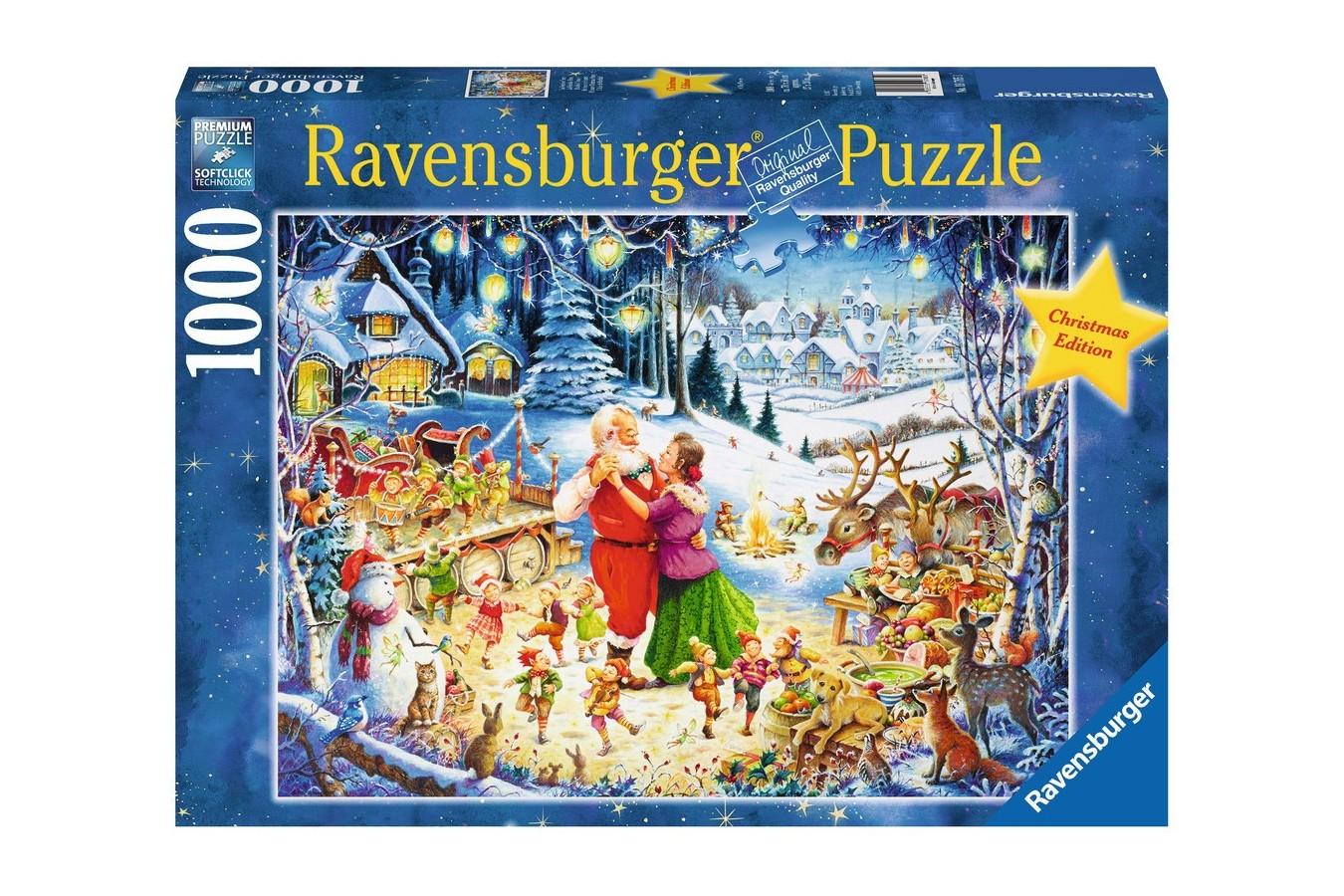 Puzzle Ravensburger - Petrecere De Craciun, 1000 piese (19765)