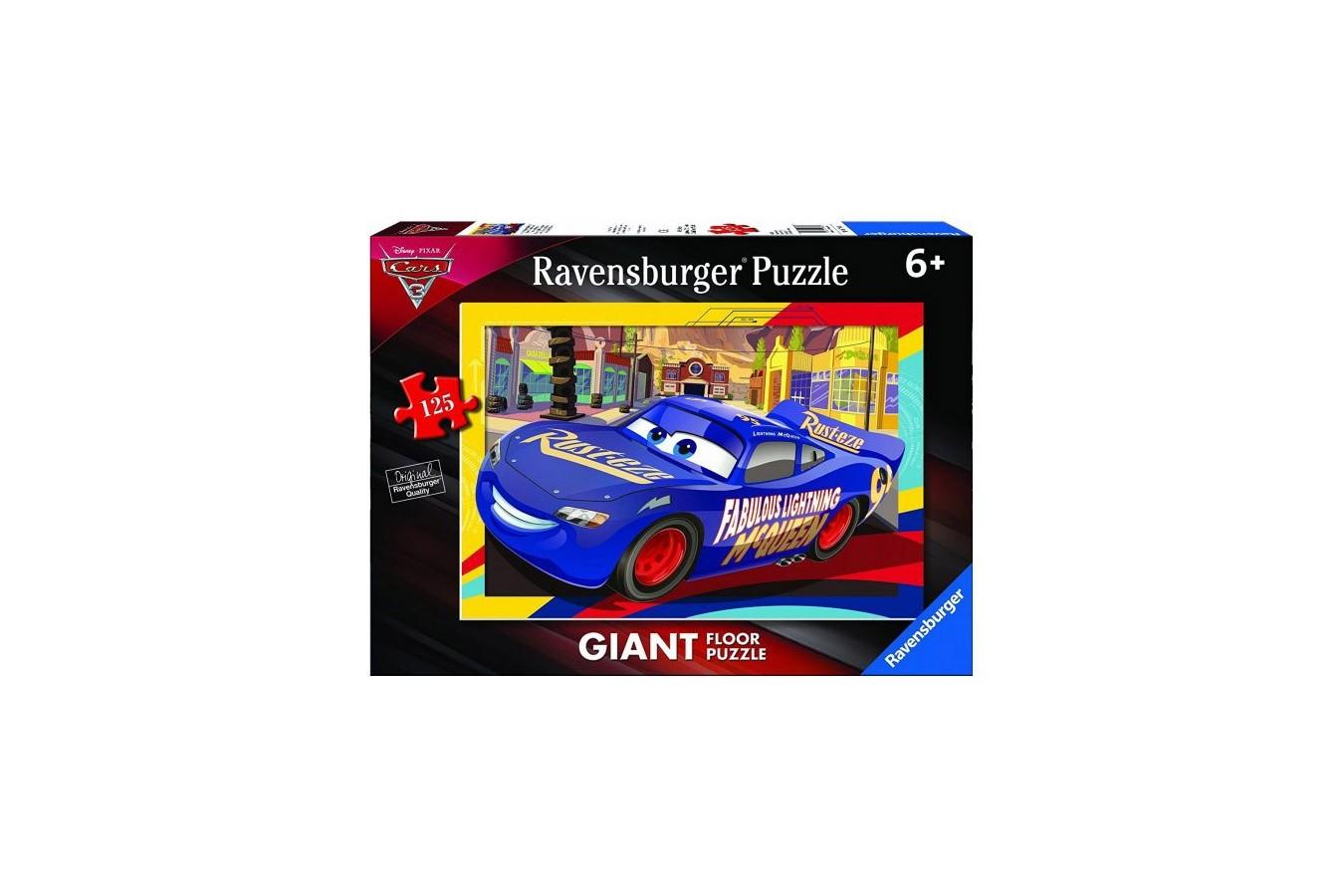Puzzle De Podea Ravensburger - Cars, 125 piese (09766)