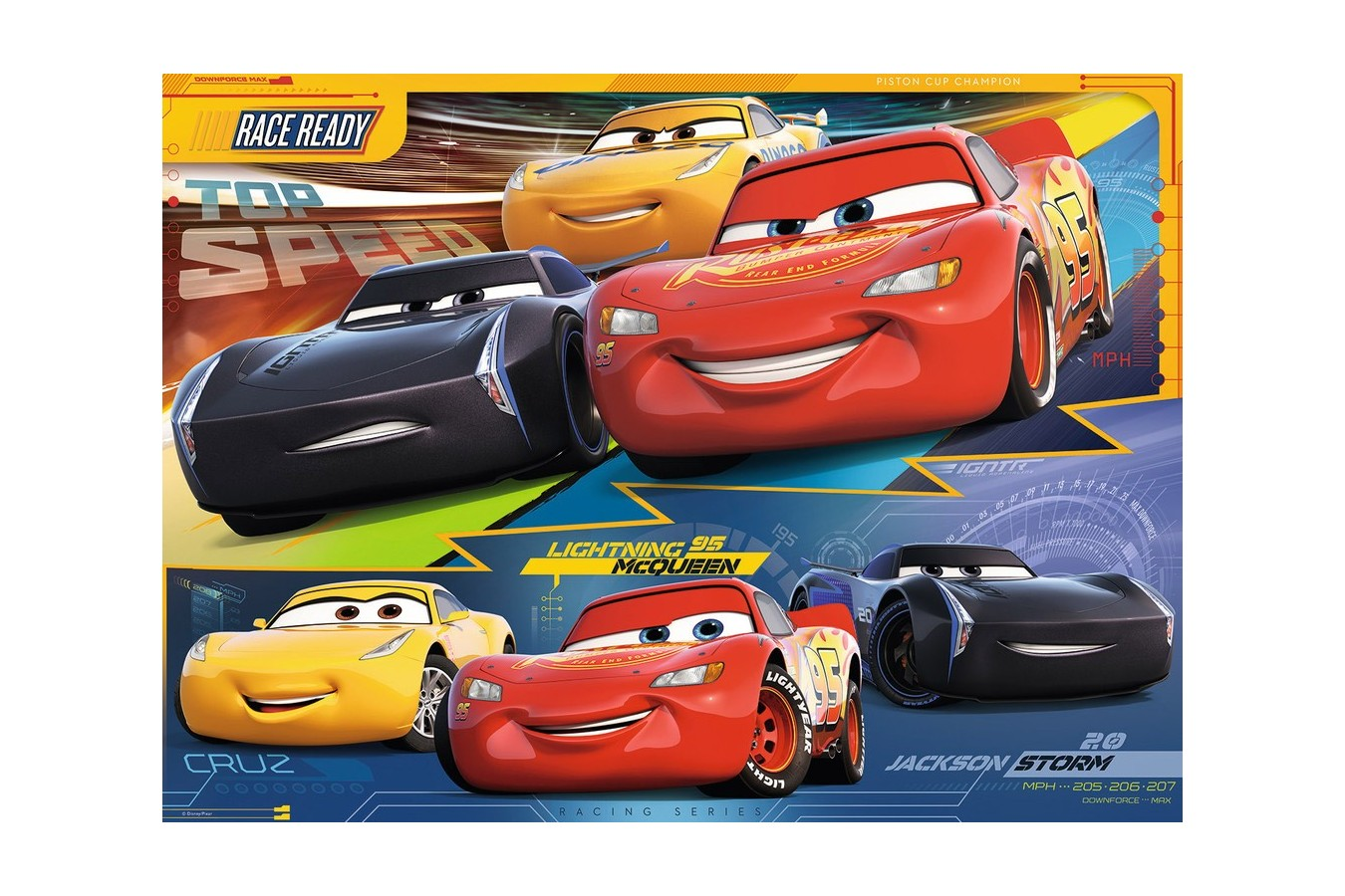 Puzzle Ravensburger - Cars, 100 piese (10961)