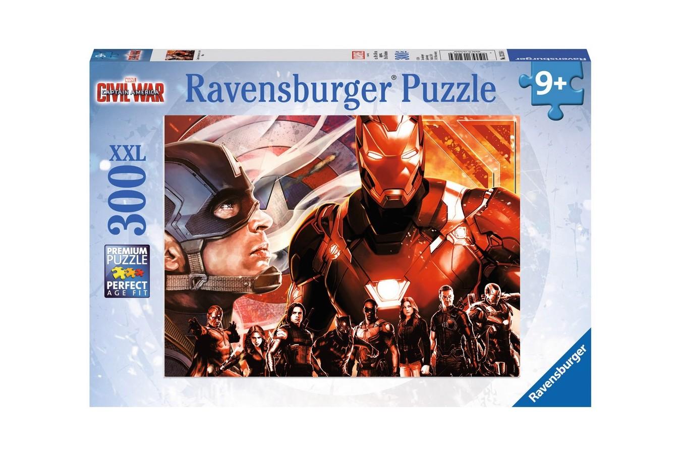 Puzzle Ravensburger - Capitan America Vs Omul De Fier, 300 piese (13216)
