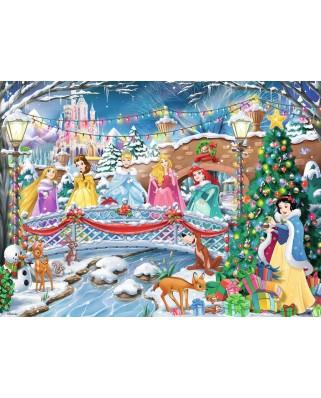 Puzzle Ravensburger - Craciunul Printeselor Disney, 100 piese (10794)