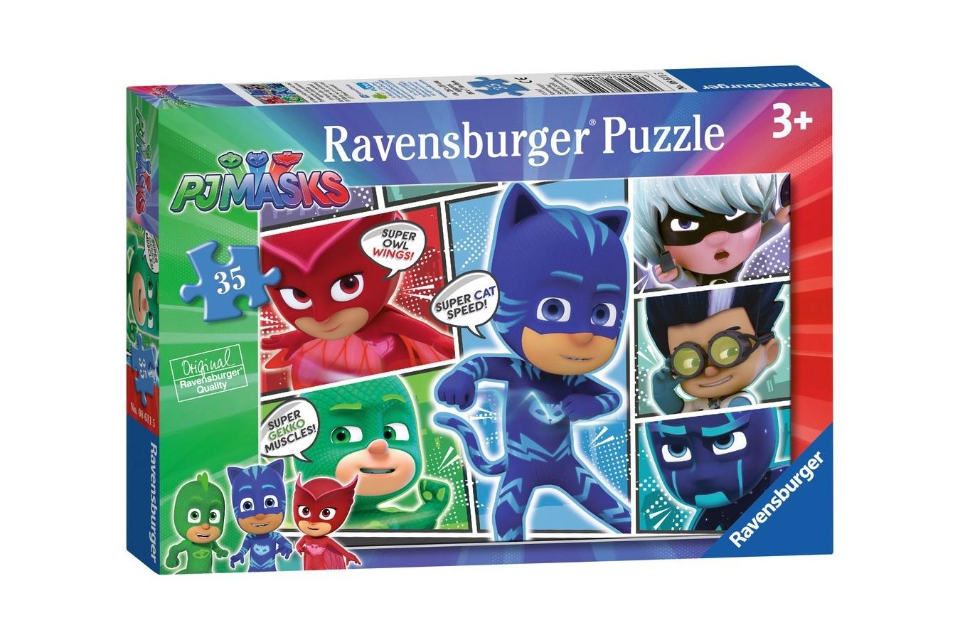 Puzzle Ravensburger - Eroi In Pijamale, 35 piese (08611)