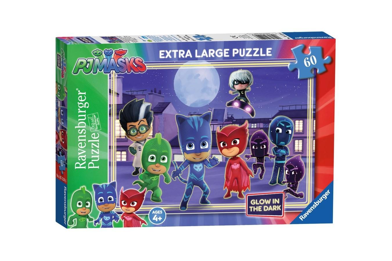 Puzzle Ravensburger - Eroi In Pijamale, 60 piese (05529)