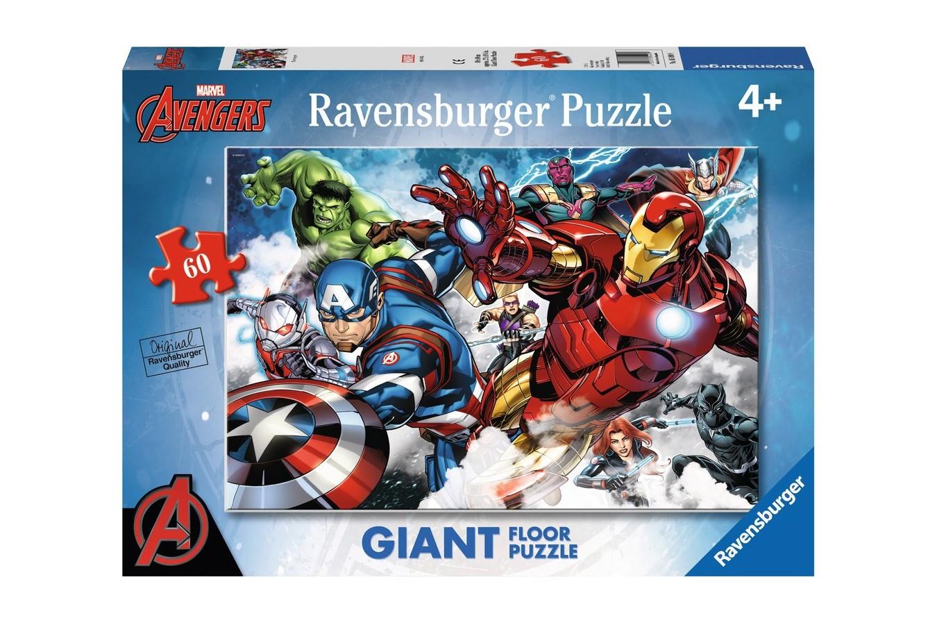 Puzzle Ravensburger - Razbunatorii, 60 piese (05490)
