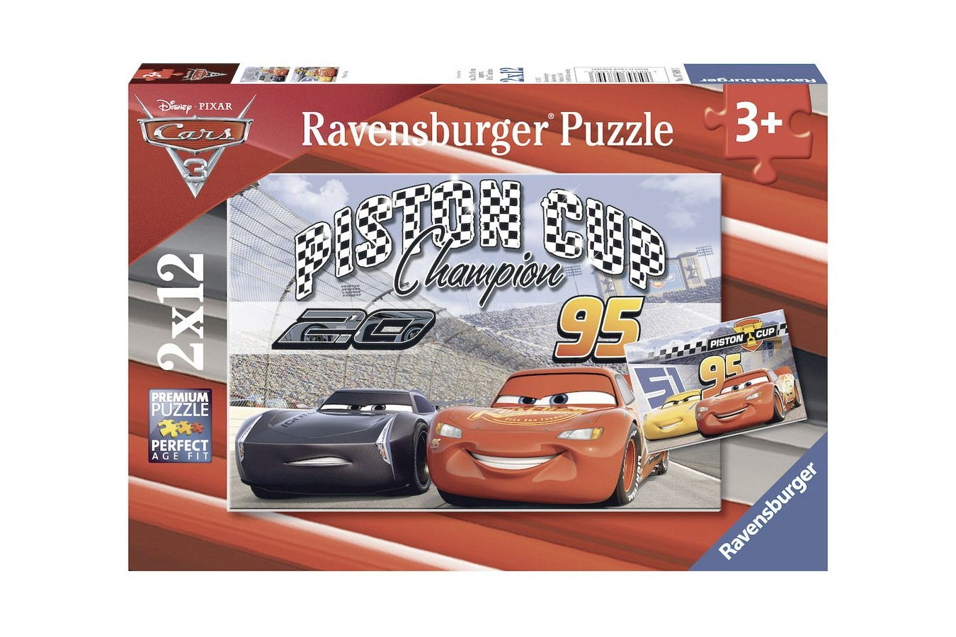 Puzzle Ravensburger - Cars, 2x12 piese (07609)