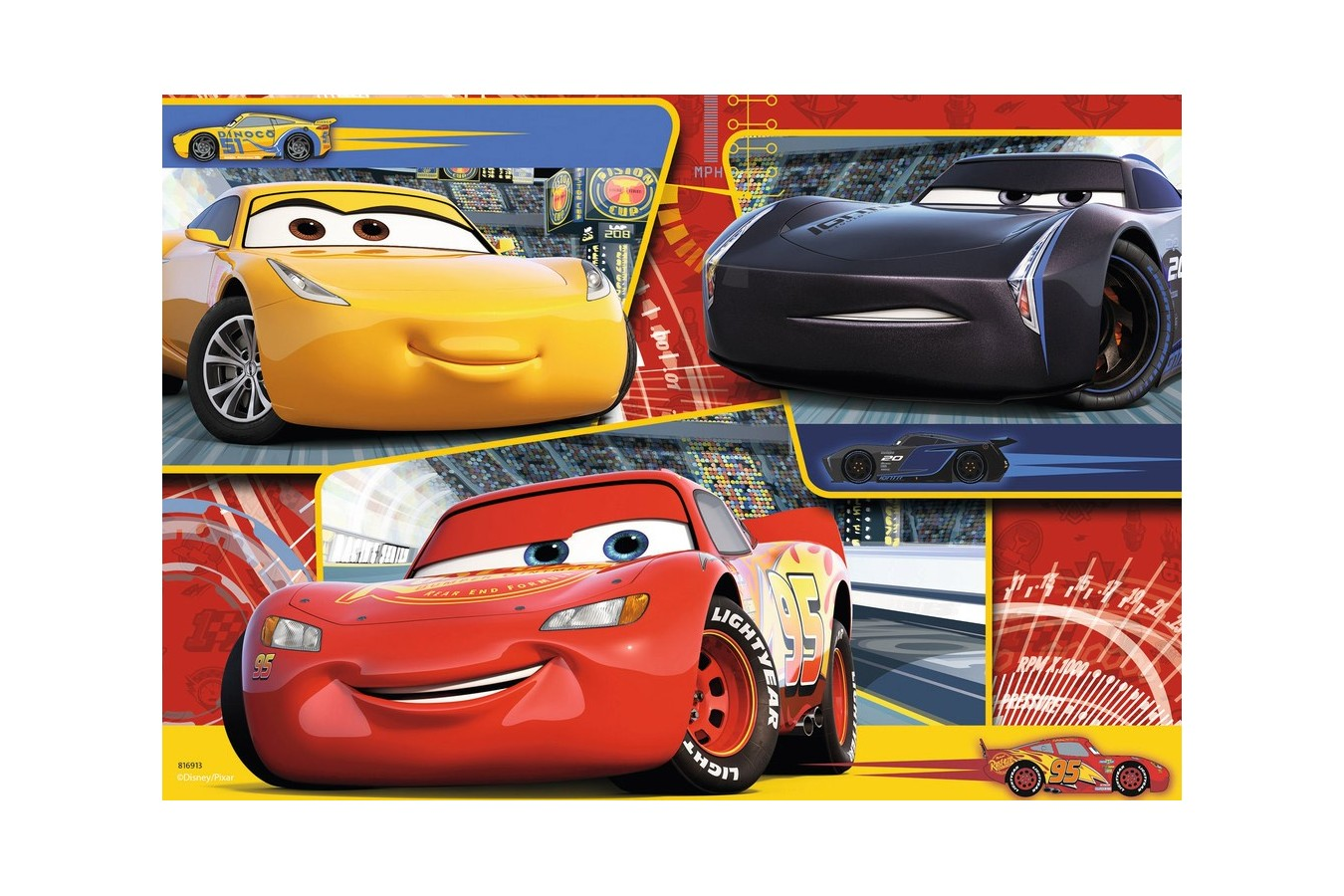 Puzzle Ravensburger - Cars, 2x24 piese (07810)