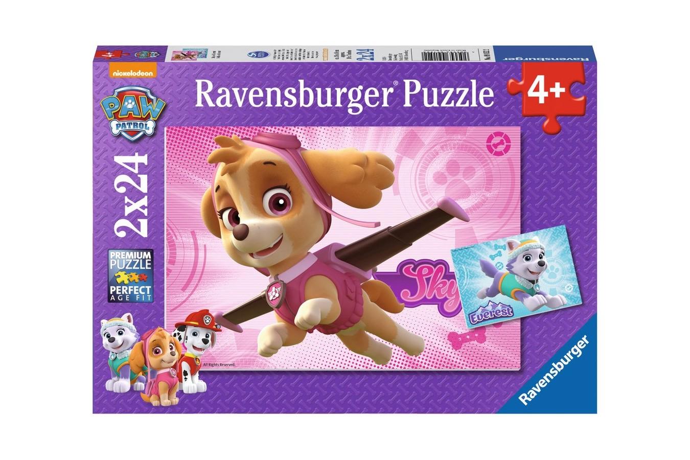 Puzzle Ravensburger - Patrula Catelusilor, 2x24 piese (09152)