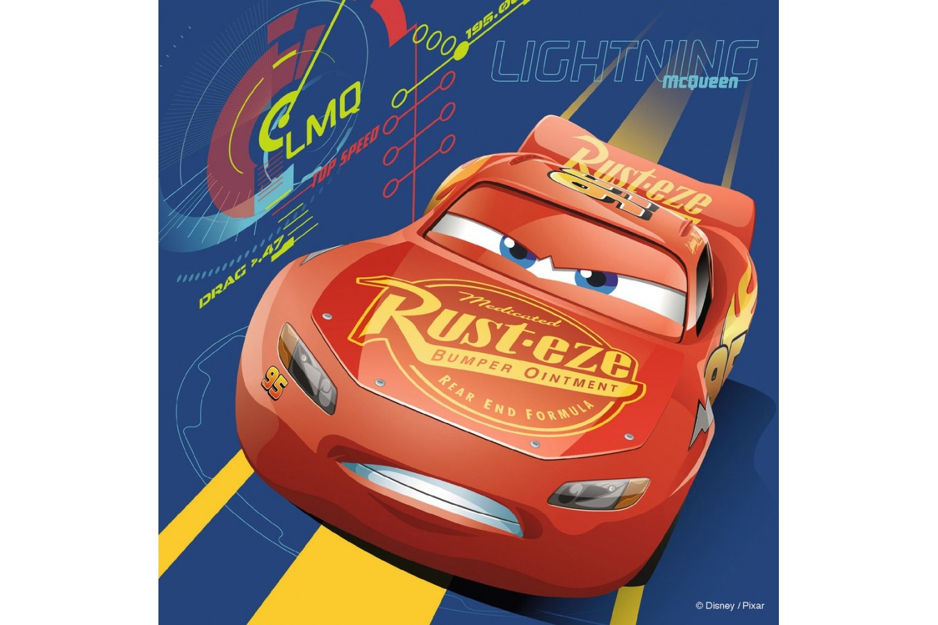 Puzzle Ravensburger - Cars, 25/36/49 piese (06925)