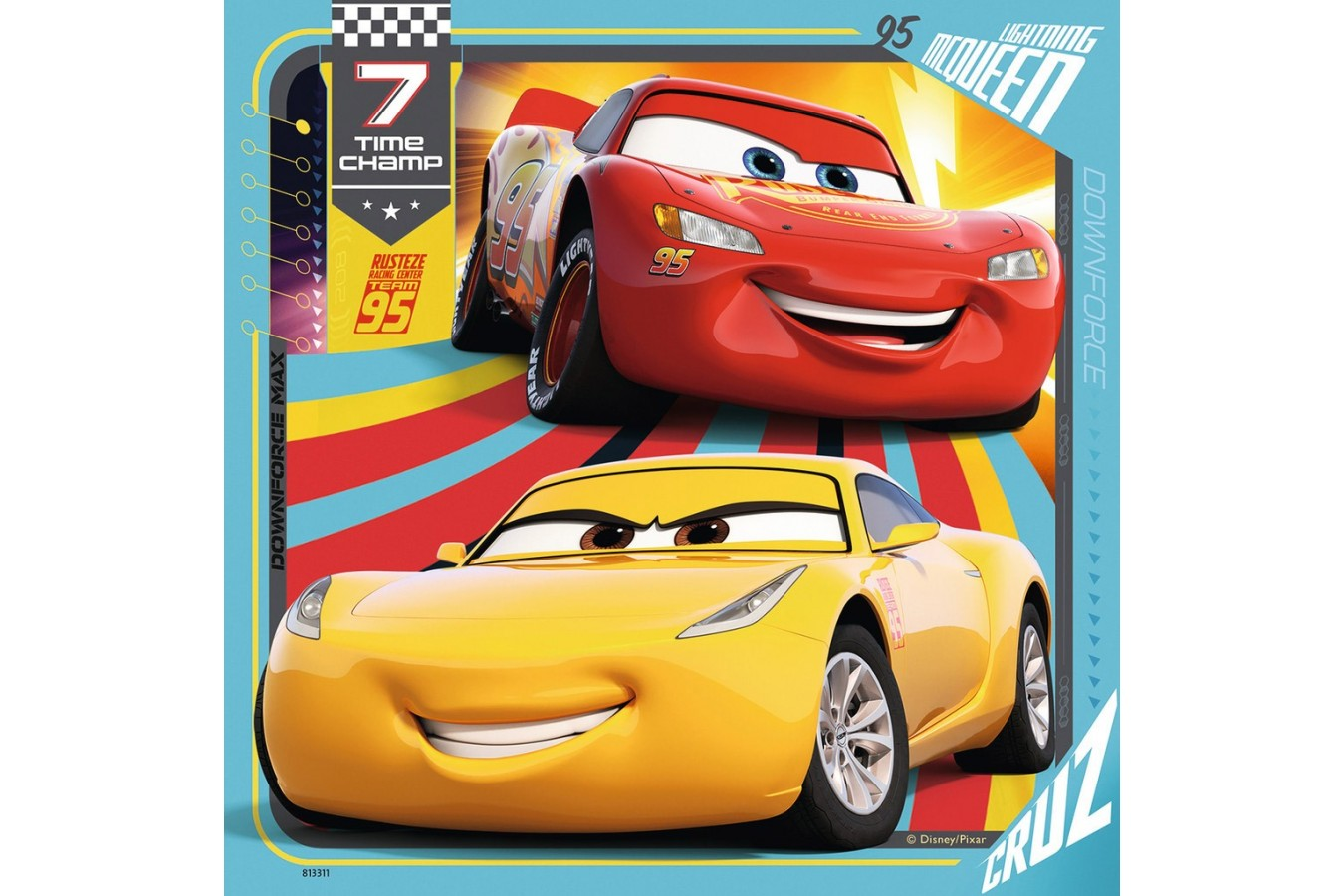 Puzzle Ravensburger - Cars, 3x49 piese (08015)