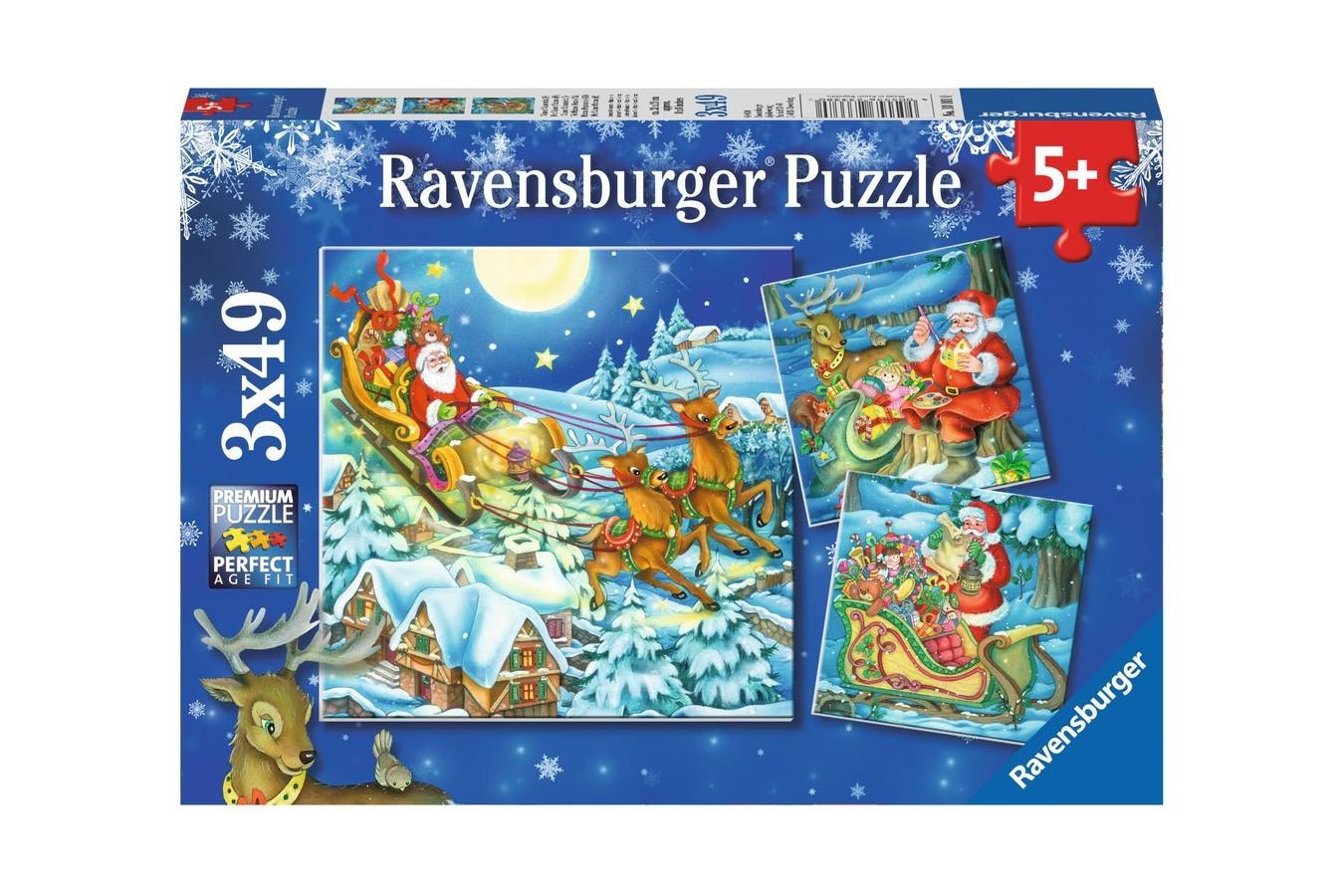 Puzzle Ravensburger - Craciun Magic, 3x49 piese (08032)