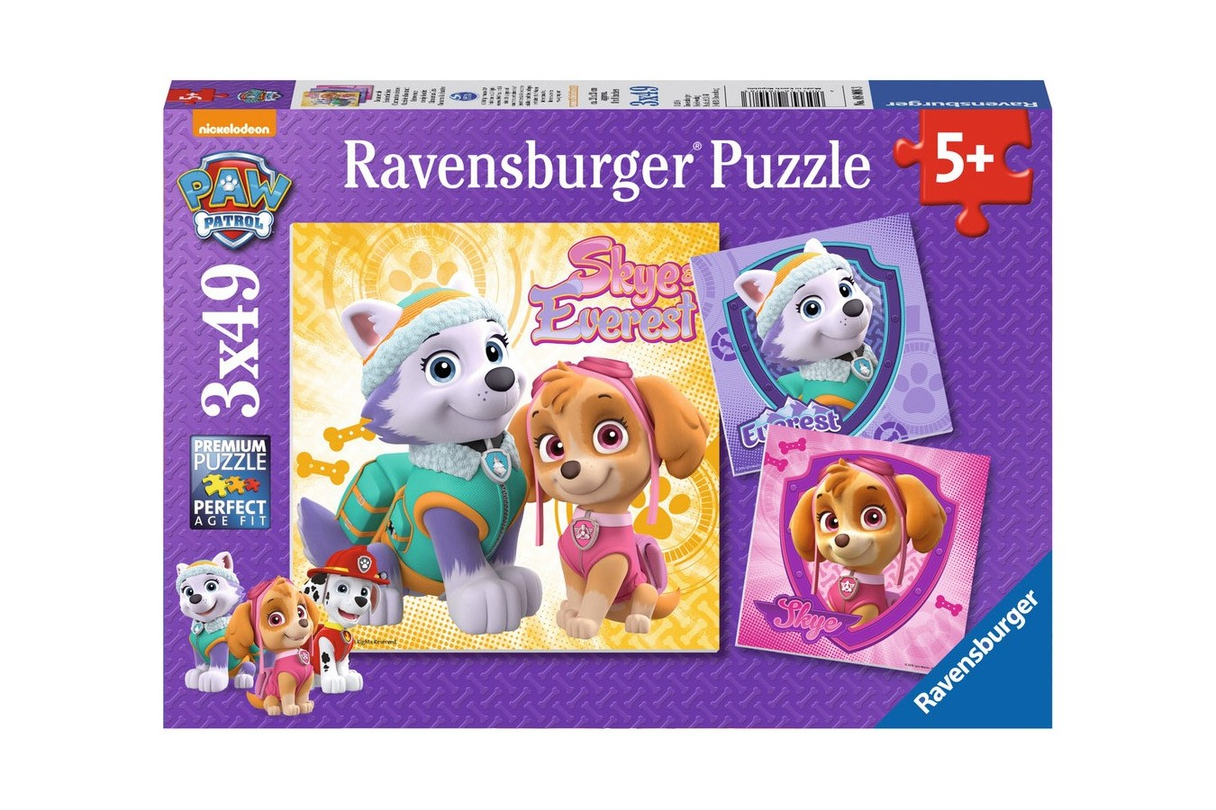 Puzzle Ravensburger - Patrula Catelusilor, 3x49 piese (08008)